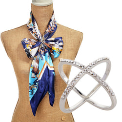 Hot 2016 Women broaches Fashion Jewelry Brand Gold Silver cross Rhinestone Channel Pin Scarf Clip New Crystal Brooches For Women - onlinejewelleryshopaus