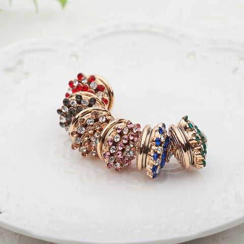12pcs Thick Magnet Brooch Random Mix Luxury Elegant Rhinestone Muslim Brooches Hijab Pin Inlay Hijab Accessories Scarf Buckle - onlinejewelleryshopaus
