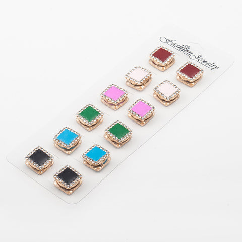 12pcs Classic vintage fix pin 6 colors mix  & 4 styles Elegant magnet paint oil brooch hijab accessories muslim scarf buckle - onlinejewelleryshopaus