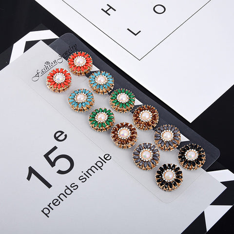 2016 Classic 6 colors vintage fix pin flower Elegant strong magnet brooch hijab accessories muslim scarf buckle - onlinejewelleryshopaus