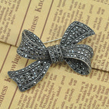 1pcs Black Bow Brooches for Women Good Quality Texture Drilling Jewelry Coat Clips Pins Fashion Accessories Party Decroration - onlinejewelleryshopaus