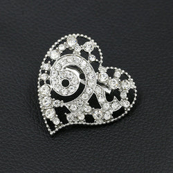 Factory Direct Sale New Design Crystal Diamante Thailand King 9 Heart Shape Souvenir Brooch Pins for Funerals - onlinejewelleryshopaus