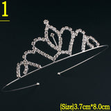 New Cute Princess Crown Tiara Rhinestone Corona Diadem Hairwear Hair Jewelry Lovely Wedding Girls Bridesmaid Headband - onlinejewelleryshopaus