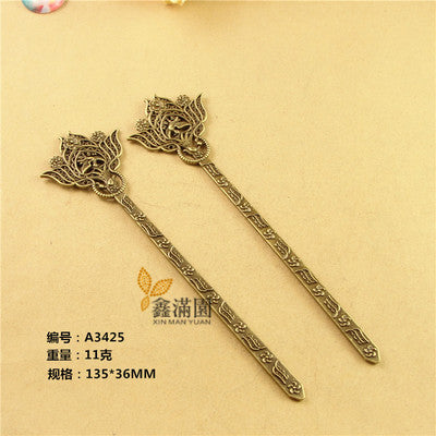 10Pcs Japanese Hair Sticks Metal Alloy Antique Bronze Plated Vintage Hair Jewelry for Women YW0010 - onlinejewelleryshopaus