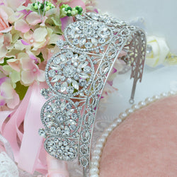 Bridal Jewelry Rhinestone Alloy European exaggerated retro antique large wedding tiaras and crowns wedding hair accessories - onlinejewelleryshopaus