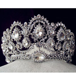 Top Quality Tiaras And Crowns Bridal Hair Ornaments For Weddings Crystals Hair Accessories Forehead Jewelry Women Diadem - onlinejewelleryshopaus