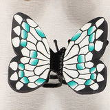 10pc/lot Polymer Clay Fimo Big Hair Butterfly Clips Claw Clip Handmade Fashion Simulation Butterfly Hair jewelry Decoration Clip - onlinejewelleryshopaus