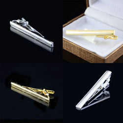Cheap&High Quality! Pop Men's Gold / Silver Metal Necktie Tie Bar Clasp Formal Dress Tie Clip - onlinejewelleryshopaus