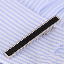 VAGULA Classical Men Wedding Tie Bar Quality Onyx Tie Pin Business Corbata Tie Clip V105 - onlinejewelleryshopaus
