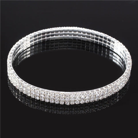 Wholesale (36 pcs/lot) 3 Row Crystal Anklet for Women Free Shipping - onlinejewelleryshopaus