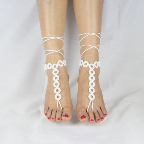 13 Pure Cotton Manual Crochet Light Foot Hook Flower Anklet Hook Book Barefoot Sandals Abroad Platform Best Sellers - onlinejewelleryshopaus