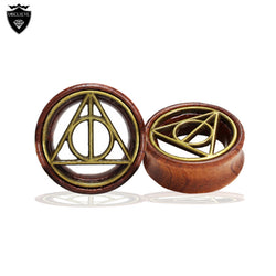 2016 New Fashion Ear Gauges Plugs and Tunnels Hollow Wood Flesh Earrings Ear Stretchers Expanders Piercing Body Jewelry - onlinejewelleryshopaus