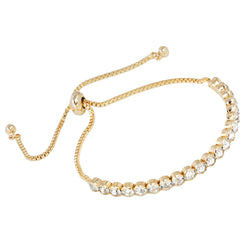 New Simple Design Gold Crystal Bracelets Charms Gold Chain Bracelet Charm Bracelets for Women Femme Fashion Jewelry gift brtk04 - onlinejewelleryshopaus