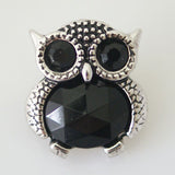 10pcs/lot 2016 New Arrival 20MM Metal Owl Snap Button Ginger Snaps Charm Bracelet For Women Jewelry Free Shipping KB8076*10 - onlinejewelleryshopaus