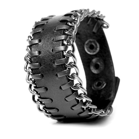 2017 New Fashion Genuine Leather Men's Bracelets European style Knight Courage Bandage Bracelet Hand Woven Wrap Charm Bracelets. - onlinejewelleryshopaus