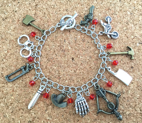 Freeshipping 20pc a lot The walking dead charm bracelet EHDNF01 - onlinejewelleryshopaus