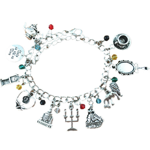 Freeshipping 20pc a lot Beauty and the Beast charm bracelet MEINYE01 - onlinejewelleryshopaus
