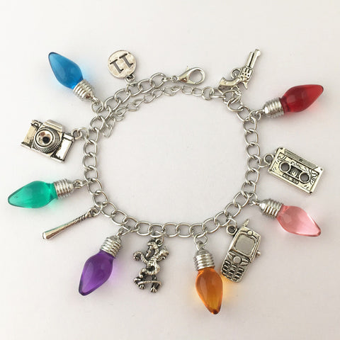 Freeshipping 20pc a lot STRANGER THINGS Christmas Tree Lights charm bracelet LJSSCC8866 - onlinejewelleryshopaus