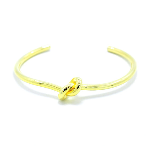 New Style Jewelry Simple Knot Bracelet Bangle Brand Manchette Gold Cuff Bangles For Women Lover Opening Pulseiras Men Adjustable - onlinejewelleryshopaus