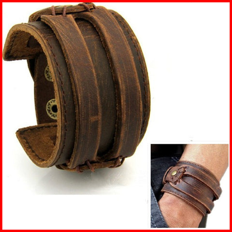 12PCS/Lot Unique Vintage Jewelry Johnny Depp Individual Leather Cuff Bracelet For Men Women Wholesale Free Shipping - onlinejewelleryshopaus