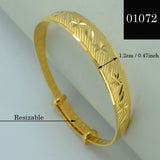 1Piece US$3.89 / Gold Bangle for Women  Gold Plated Dubai Bride Wedding Ethiopian Bracelet Africa Bangle Arab Jewelry #000107 - onlinejewelleryshopaus