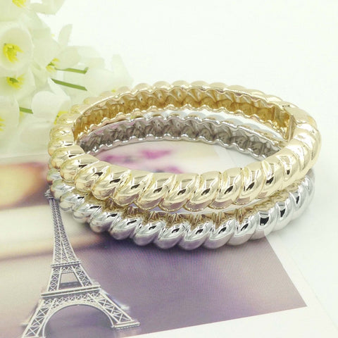 2015 Dubai Gold Bangles Fashion Folli Jewelry Design  Dubai Summer Style Cuff Bangles Bracelet For Women Girls Gift - onlinejewelleryshopaus