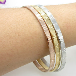 3 Kinds Of Color Roman Number Bracelets For Women pulseras Fashion Brand Gold Plated Stainless Steel Bracelets & Bangles - onlinejewelleryshopaus