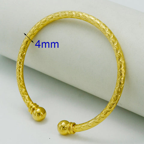 Gold Bangle for Women - Gold Plated Bracelet Jewelry Ethiopian,Product size/color if you do not understand contact us #007302 - onlinejewelleryshopaus