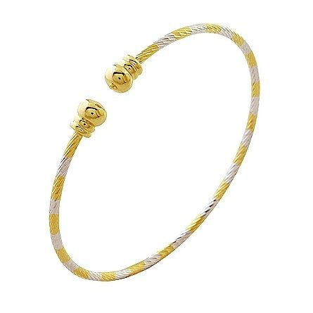 Women Gold Plated Bangles & Bracelets, Double Colours Bangle, Free shipping(BA14K-03) - onlinejewelleryshopaus