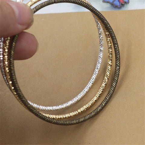 10Pcs Wholesale Metal Bangles 3MM Thickness Line Silver Gold Bronze Plated Carved Bangles - onlinejewelleryshopaus