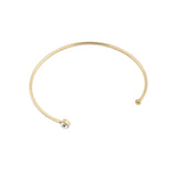Fashion Women Trendy Crystal Thin Metal Adjustable Cuff Gold/ Rhodium Plated - onlinejewelleryshopaus
