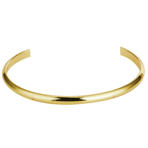 Classics Simple Cuff Real Gold Plated Open Bangles Mens Bracelet Cuff Copper Jewelry Minimalist Flat Thin Gold Cuff Pulseiras - onlinejewelleryshopaus