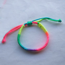 10pcs Rainbow Handmade Woven Thread Macrame Cord Bracelet Friendship Bracelets for women men - onlinejewelleryshopaus