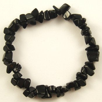 Free shipping wholesale Crystal Chip Beaded Stretch BRACELETS  Black Onyx  color - onlinejewelleryshopaus