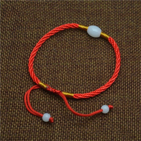 2016 Red String Editing Simple And Stylish Woman With Transfer Beads Bracelet Wholesale - onlinejewelleryshopaus