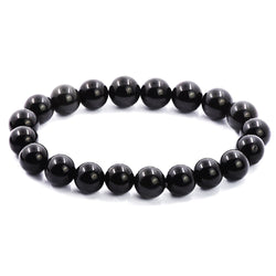 2016 new Frost round Multicolor Black Obsidian spacers loose beads semiprecious natural Stone Bracelet for women/men - onlinejewelleryshopaus
