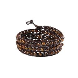 vintage style friend weaving leather bracelet tiger eye wrap bracelet jewelry - onlinejewelleryshopaus