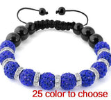 10mm mix color options multicolor mixed ab clay stone disco ball new Beads Crystal Shamballa Bracelets women men lot - onlinejewelleryshopaus