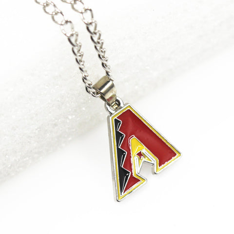 10pcs/lot MLB Arizona Diamondbacks baseball Necklace Pendant Jewelry With 60cm Chain Sports Necklace Jewelry - onlinejewelleryshopaus