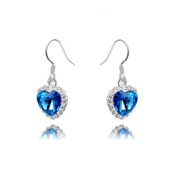 Titanic The Heart Of The Ocean Crystal Drop Earrings Fashion Earings Wedding Earring Romantic Jewelry For Women - onlinejewelleryshopaus
