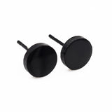 Funny Round Shape Rock Hipster Stud Earrings For Men And Women Brand Jewelry With Gold , Steel And Black Color - onlinejewelleryshopaus
