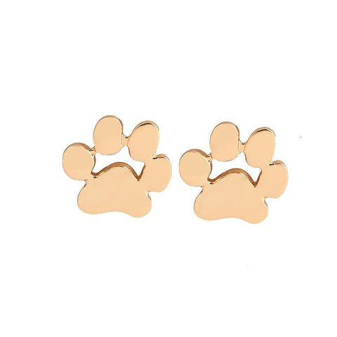 10Pcs/lot Wholesale Cute Animal Paw Print Earrings for Women Cat and Dog Paw Stud Earrings for Girl Party Gift - onlinejewelleryshopaus