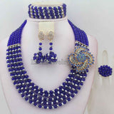 Fashionable African Beads Jewelry Sets Crystal Jewelry Set Nigerian Wedding Necklace Womens Jewellery Set Jewelry Sets HD6930 - onlinejewelleryshopaus
