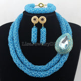 Fashionable African Beads Jewelry Sets Crystal Jewelry Set Nigerian Wedding Necklace Womens Jewellery Set Jewelry Sets HD7271 - onlinejewelleryshopaus