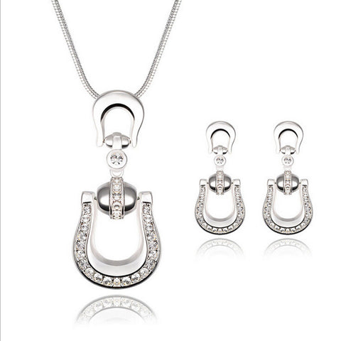New Fashion womens african Female s silver plated jewellery set wedding jewerly sets - onlinejewelleryshopaus
