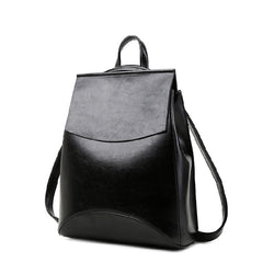 2017 new female bag leather shoulder bag Korean version of College Wind minimalist casual leather multifunction women backpack - onlinejewelleryshopaus