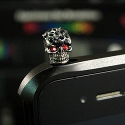 luxuly Dust cap for universal cellphone plug personality skull diamond Headphone plug for your phone ear plug phone Accessories - onlinejewelleryshopaus