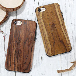 "Luxury For iPhone 7 Phone Cases Retro Vintage Wood Pattern PU Leather + TPU Slim Wooden Back Cover Accessories For iphone7 4.7"" - onlinejewelleryshopaus"