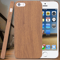 For Apple iPhone5 5G 5S SE Bright Wood Skin Ultra Thin Protective Case For iPhone5S SE Precise Hole Back Cover Phone Accessories - onlinejewelleryshopaus