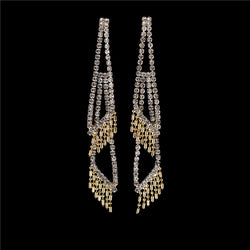 New Arrival Design Dangle Tassel Drop Earrings Full Shiny Rhinestone Crystal Big Hoop Earrings Jewelry gift for women E5110 - onlinejewelleryshopaus